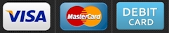 Accept Visa Mastercard and Debit Cards